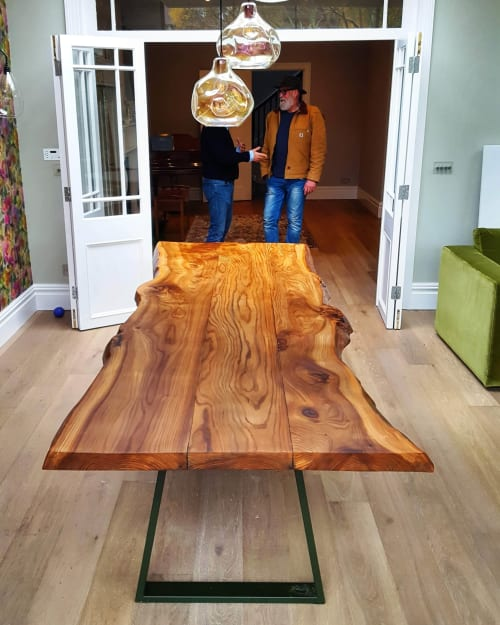 Tables by Handmade in Brighton seen at Private Residence, London - Sussex Elm Live-Edge Dining Table