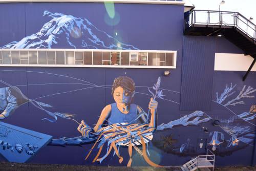 Murals by Jessilyn Brinkerhoff seen at Tacoma, Tacoma - Tacoma
