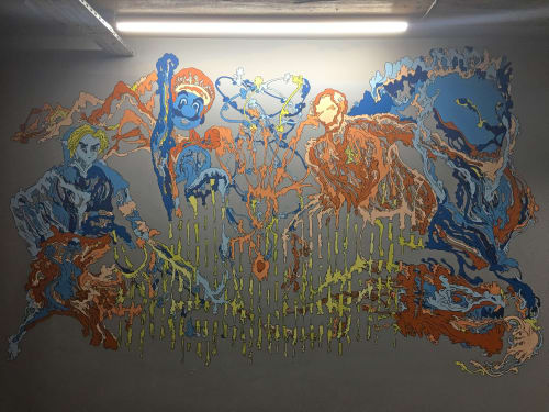 Murals by Saif Kattan seen at Baltic Triangle, Liverpool - Liverpool Studio Interior Mural