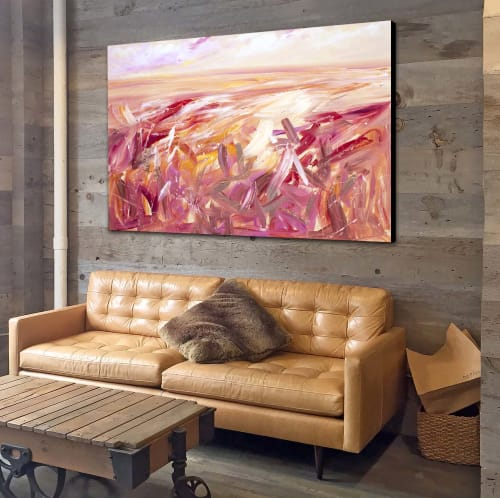 Paintings by Tania Chanter seen at Private Residence, Texas City - Autumn Conversation