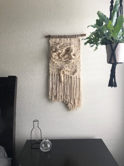 Wall Hangings by Mpwovenn seen at Private Residence, San Antonio - Sculptural macrame wall hanging