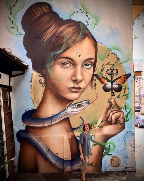 Street Murals by Filite seen at Private Residence, Pinheiros - Dualities