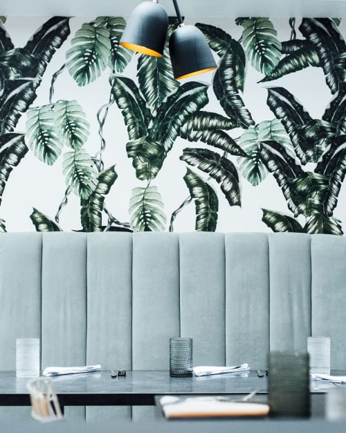 Wallpaper by Candice Kaye Design seen at Planta, Toronto - Custom Wallpaper