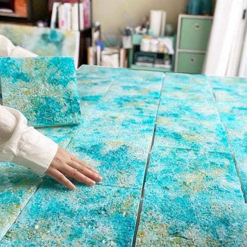 Murals by Chieko Shimizu Fujioka seen at Private Residence, Nagoya - Colors of Lanikai