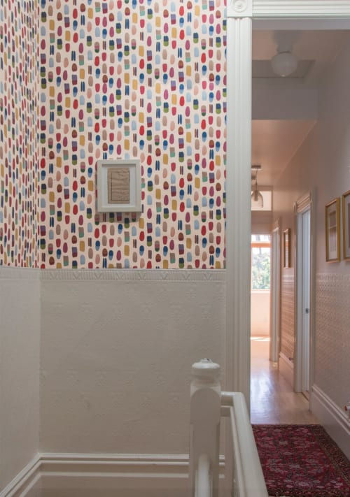 Wallpaper by Metolius seen at Private Residence, San Francisco - Shells Wallpaper