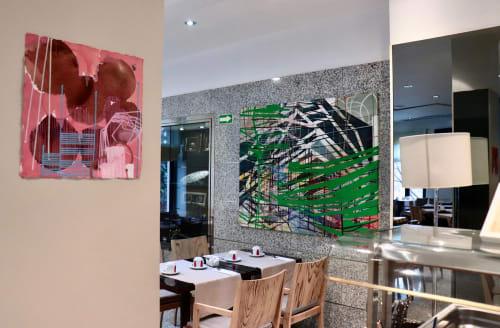 Macrame Wall Hanging by TRUDI VAN DER ELSEN seen at Hotel San Juan de los Reyes, Toledo - 'Monkey & Grasshopper'