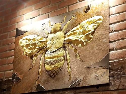 Sculptures by Michael Colemire Designs seen at Beehive Augusta Tavern, Augusta - All the Buzz
