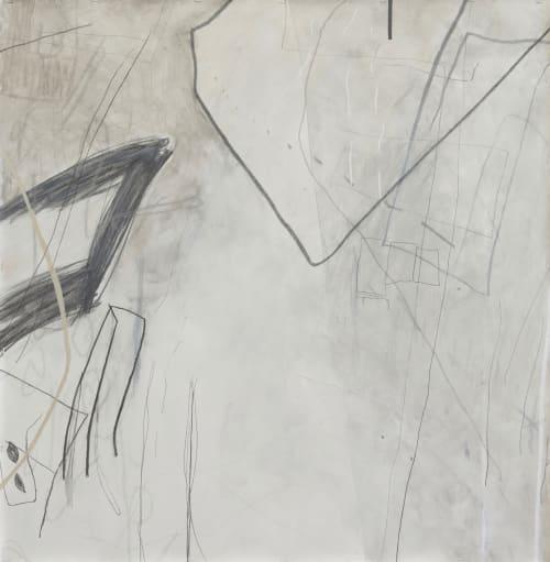 Paintings by Lisa Bergant Koi seen at Bar Marco, Pittsburgh - Departure(32) and Departure(33)