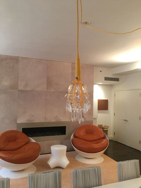 Lighting Design by Justin GIunta  Subversive seen at Private Residence, Hudson St, New York - Construction Chandelier