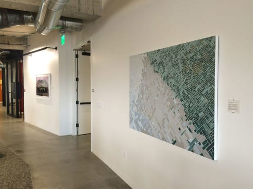 "Paintings by Mary Stengel Bentley seen at Capital One - SoMa, San Francisco - ""Crissy Field"" Painting"