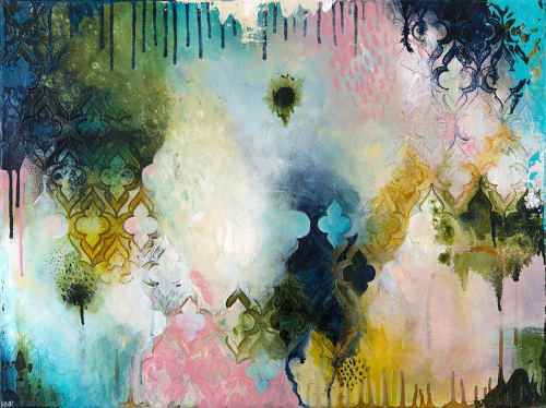 "Germination - 18""x24"" Original Painting | Paintings by Heather Robinson"