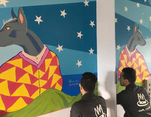 Murals by Miguel Ayuso (The Mexiyorker) seen at NU Hotel Brooklyn, Brooklyn - Dreaming Frida