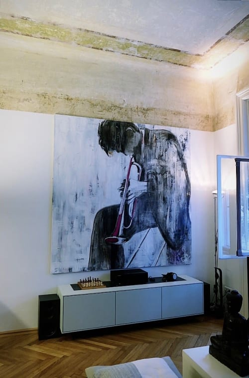 Art Curation by Erzsebet Nagy Saar seen at Private Residence, Vienna - Decollage Painting