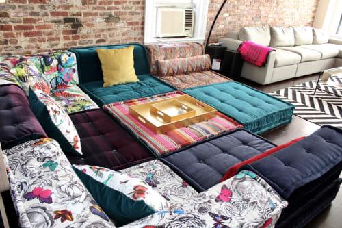 Couches & Sofas by Lena Lalvani seen at Chelsea Live/Work Loft Space, Manhattan, New York - Custom Floor Cushions
