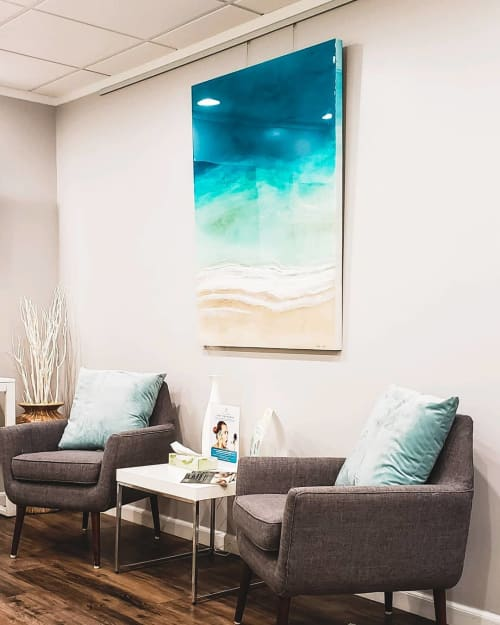 Paintings by Sarah Caudle seen at Honolulu MedSpa, Honolulu - Beach Front