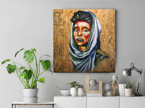 Paintings by Afrocentric Keyy seen at New York, New York - My Wrap