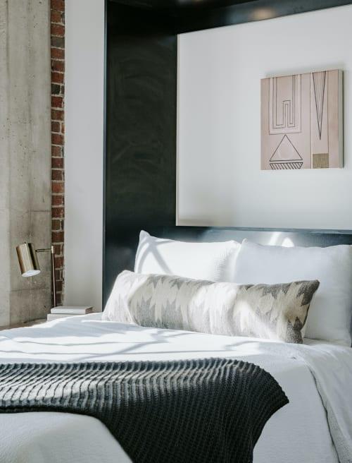 Pillows by Selva Studio seen at Private Residence, Denver - Diamante Gris Lumbar Pillow
