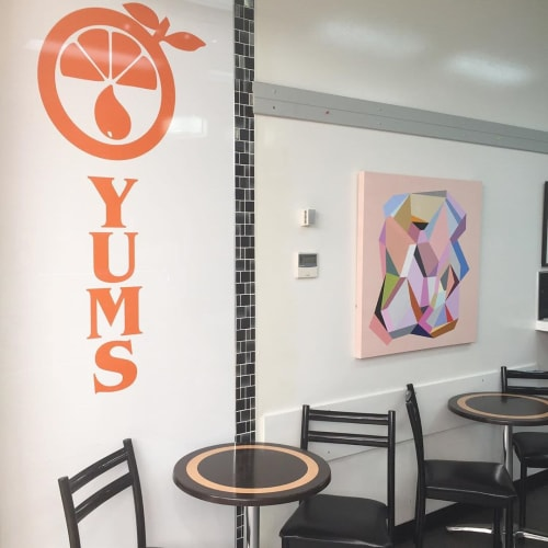 Paintings by Susie Monte seen at Yums Health Food Bar, Albury - Magnolia