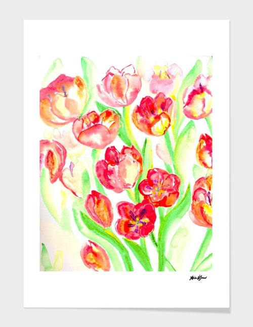 Paintings by ANoelleJay seen at Private Residence - Mother's Day Tulips