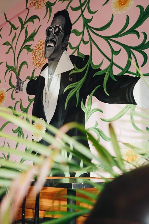 Murals by iMPuLSe Creative seen at Urban Bean, Minneapolis - Interior Mural