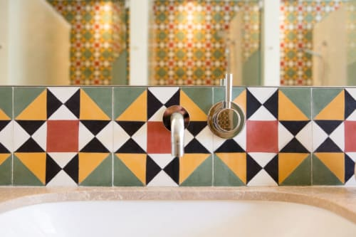 Tiles by Huguet Mallorca seen at Palma Sport & Tennis Club, Palma - Bespoke Mosaics