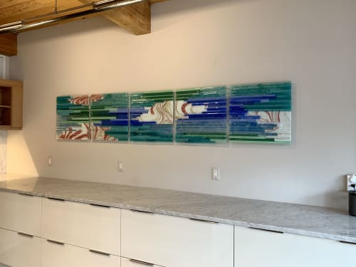 Wall Hangings by Natalie Ventimiglia seen at Private Residence, Denver - Source Energy-H2O