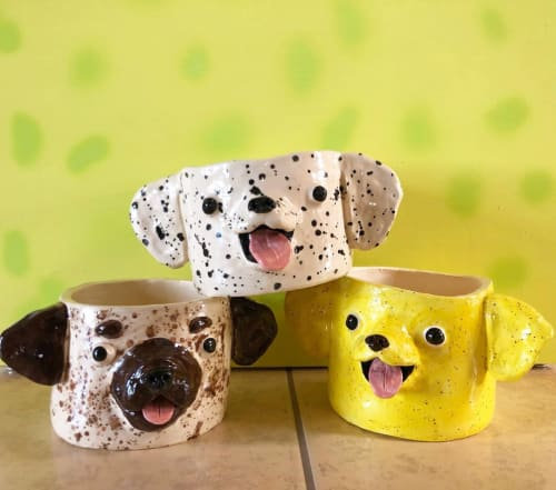 Vases & Vessels by Katie Kimmel seen at Mojave Desert - Dog Bud Planters