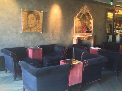 Paintings by Paolo Campagnolo seen at Hotel Palazzo Barbarigo, Venezia - Callas