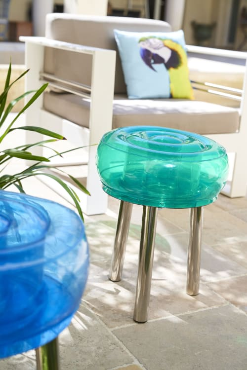 Chairs by MOJOW seen at Private Residence, Tours - FLOOFY STOOL
