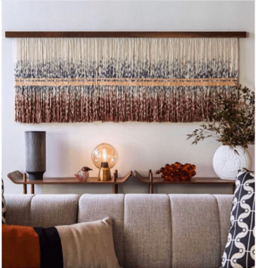 Wall Hangings by Lauren Williams seen at Private Residence, Palm Springs - Commissioned Our Copper Lines for Modernism Week 2019