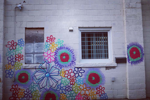 Street Murals by Mathew Vizbulis seen at Crowland Avenue, Welland - Assorted Flower Design