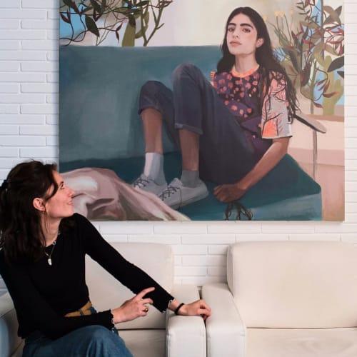 Paintings by Koko Che Jota seen at Hotel Madrid, Sevilla - Eliot