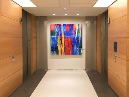 Photography by Carol Inez Charney seen at Morgan Stanley Area, New York - HIL 3, 59x59""
