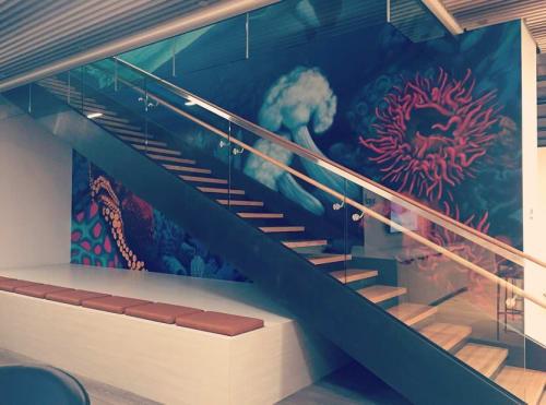 Murals by Weirdo seen at Avanade Inc, Seattle - Ocean views