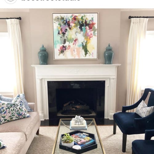 Paintings by Laura Park Designs seen at Private Residence, Penticton - Abstract painting