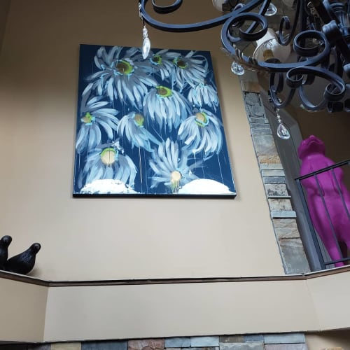 Paintings by Megan Coonelly Studio seen at Private Residence, Philadelphia - Floral