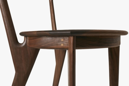 Chairs by Tightrope seen at Private Residence, Brooklyn - Walnut Freya Chair