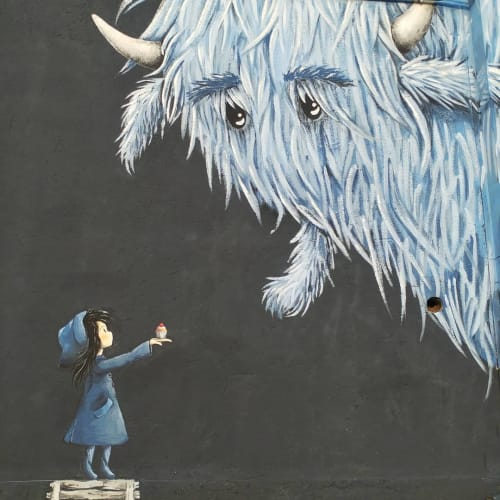"Street Murals by Stefania Gallina - MAPU Lab seen at Corso Bramante, Torino - ""COOKIE?"" - Personal Mural"