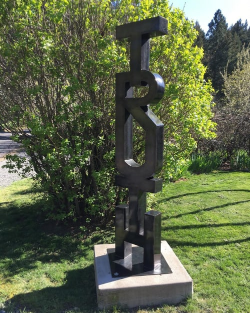 Public Sculptures by Macrae Wylde seen at Hood River, Hood River - Truth Sculpture