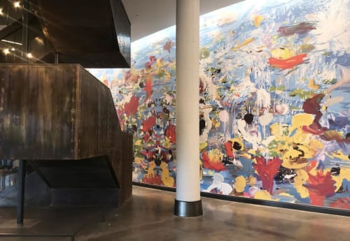 Murals by Petra Cortright seen at The Summit A Dolce Hotel, Cincinnati - Springtime
