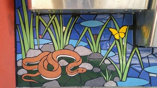 Public Mosaics by New World Mosaics seen at Emeryville Center Of Community Life, Emeryville - Fast Friends
