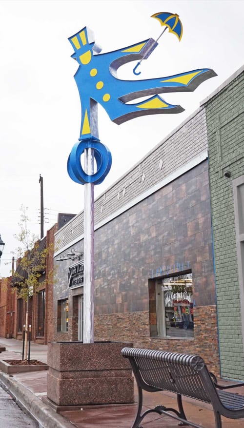 Public Sculptures by Gus Lina Fine Art seen at 1105 8th Ave, Greeley - Dancing in the Rain