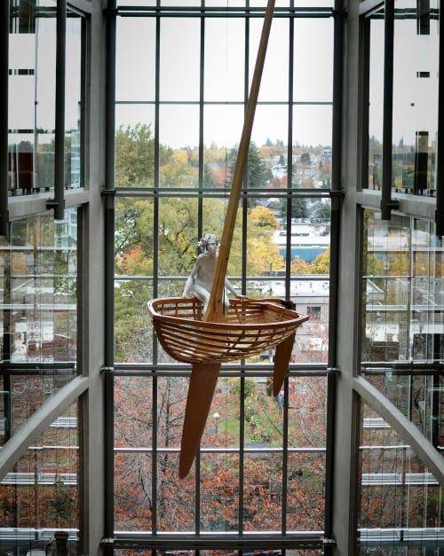Public Sculptures by David Robinson seen at Leslie & Gordon Diamond Healcare Centre at Vancouver General Hospital, Vancouver - Windward Calm