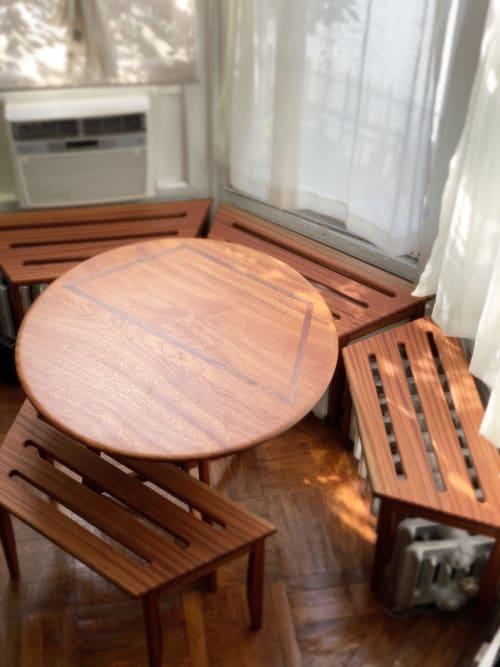 Midcentury Modern Sapele Kitchen set | Tables by Keep Furniture