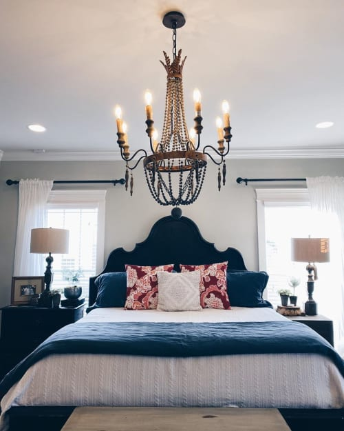 Pillows by Busa Designs LLC seen at Private Residence, Athens - White Boho Diamond Pillow Cover