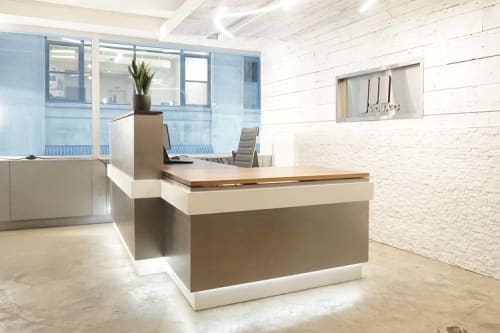 Furniture by Ordinal Indicator seen at Mosaic Sales Solutions, New York - Reception Desk