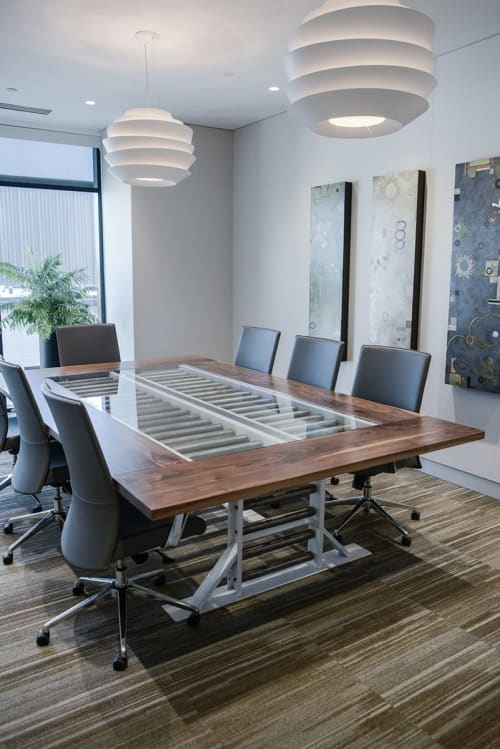 Tables by Fin Art Co seen at Cambiar Investors, Denver - Conference Tables