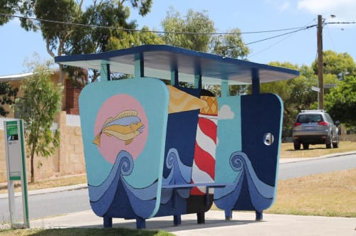 Murals by Toby Tomlinson seen at Private Residence, Hilton - Bus Stop