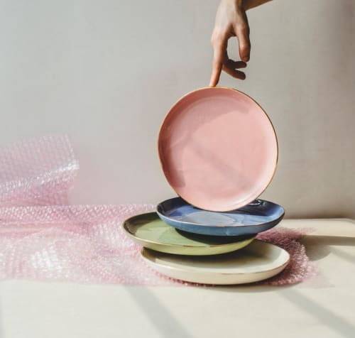 Ceramic Plates by SIND STUDIO seen at De Maria, New York - VELVET DESSERTS small porcleain plates