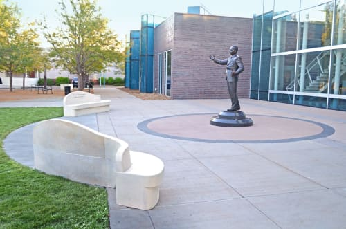 Public Sculptures by Jeff Hall Studio seen at Martin Luther King Jr Library (Aurora Public Library), Aurora - Dr. Martin luther King Jr.